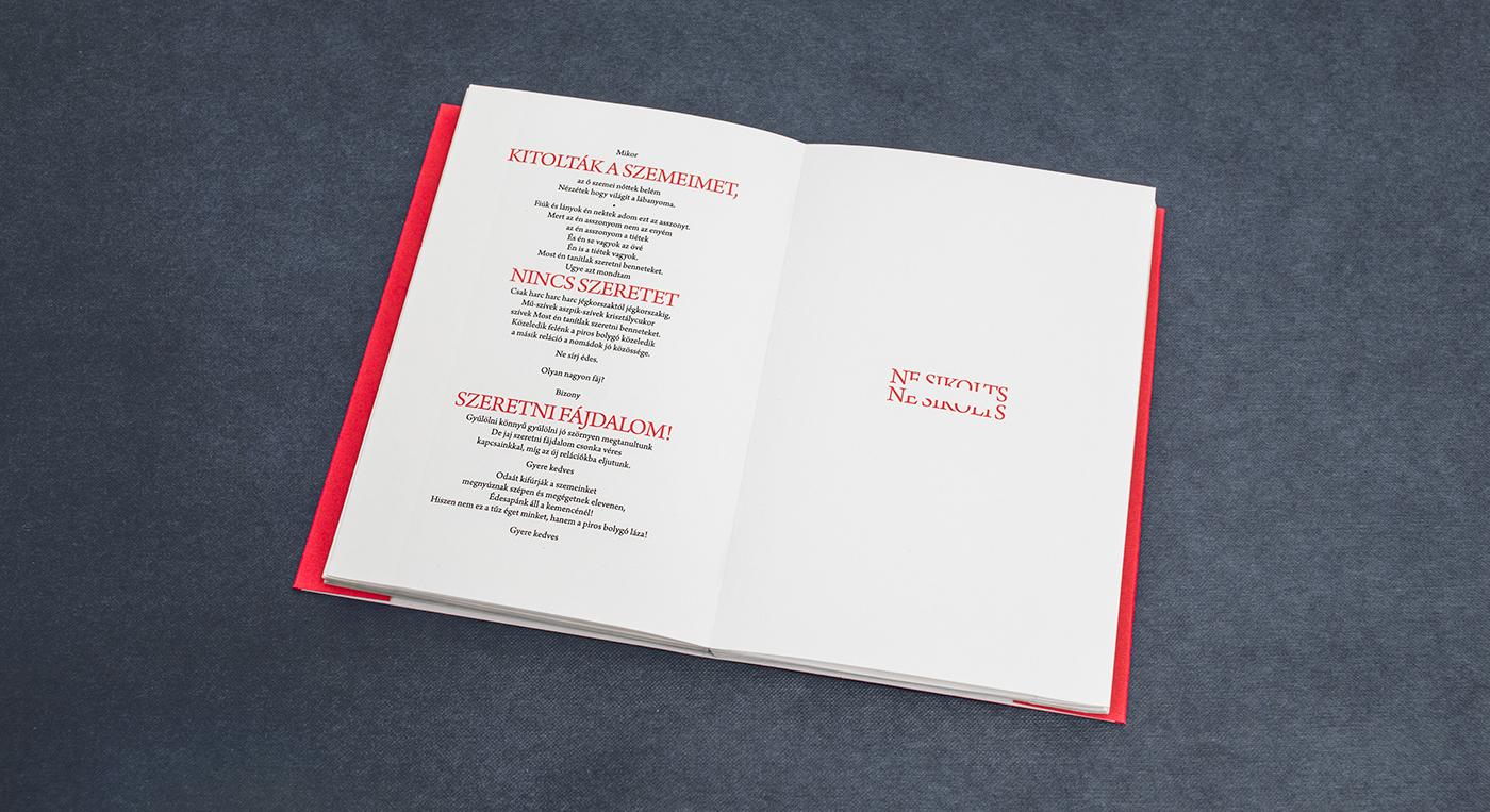 book design book artbook print design  print avant-garde graphic design  typography   Experimental Typography budapest