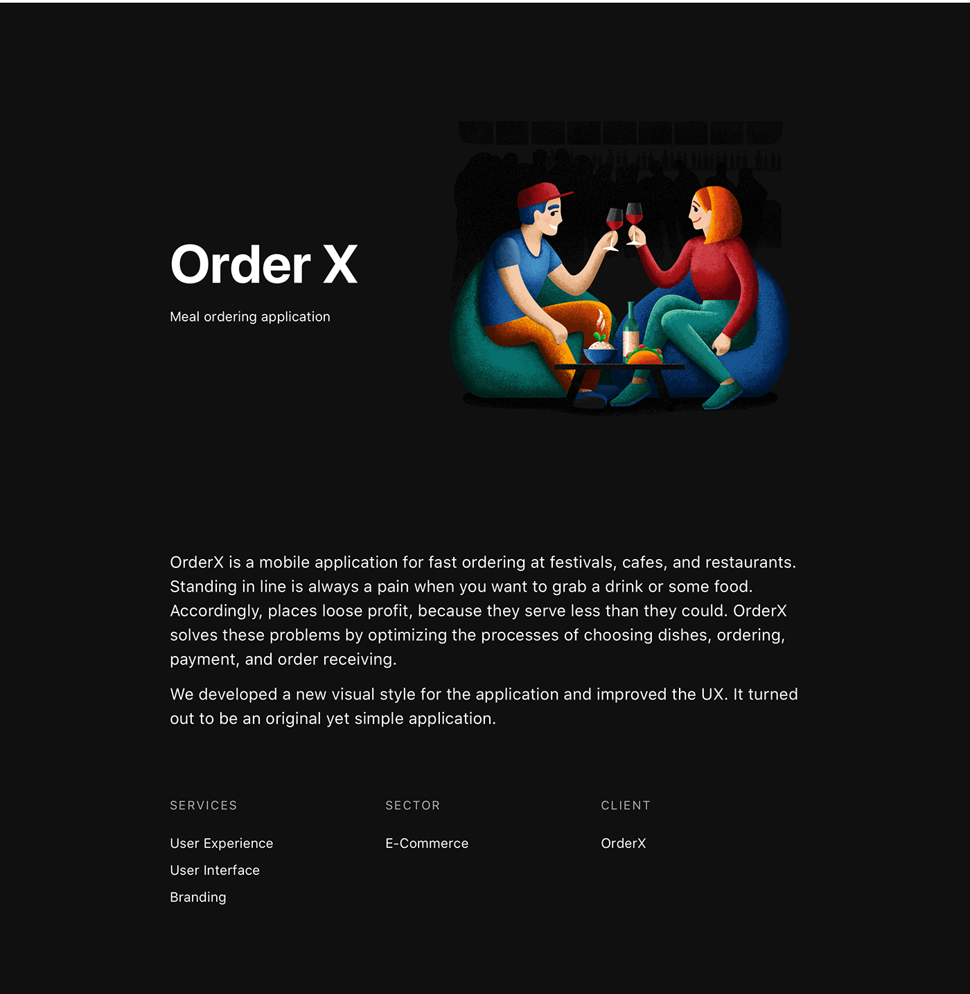 meal ordering application Food  mobile animation  ILLUSTRATION  Usability restaurants