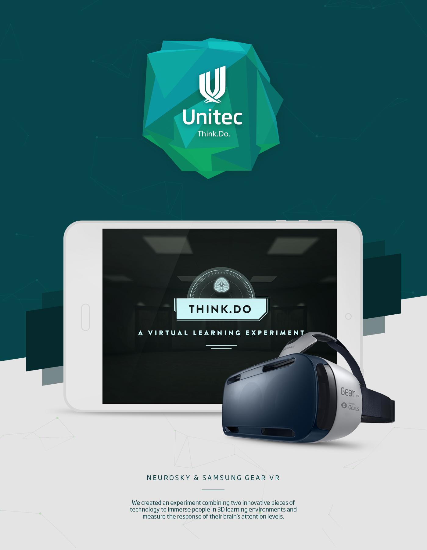 Virtual reality interactive Samsung Gear VR Neurosky