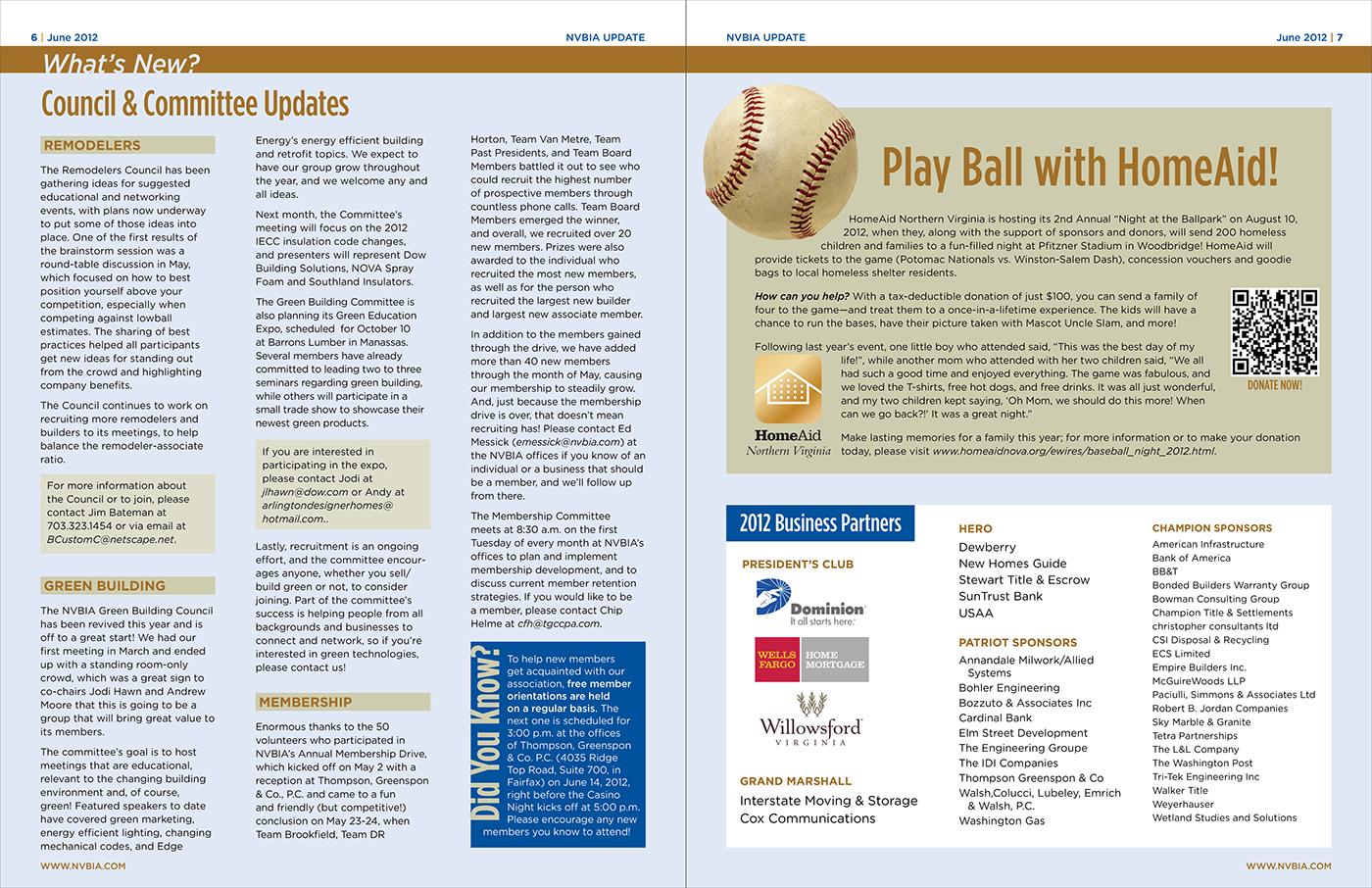 trade association quarterly newsletter on behance