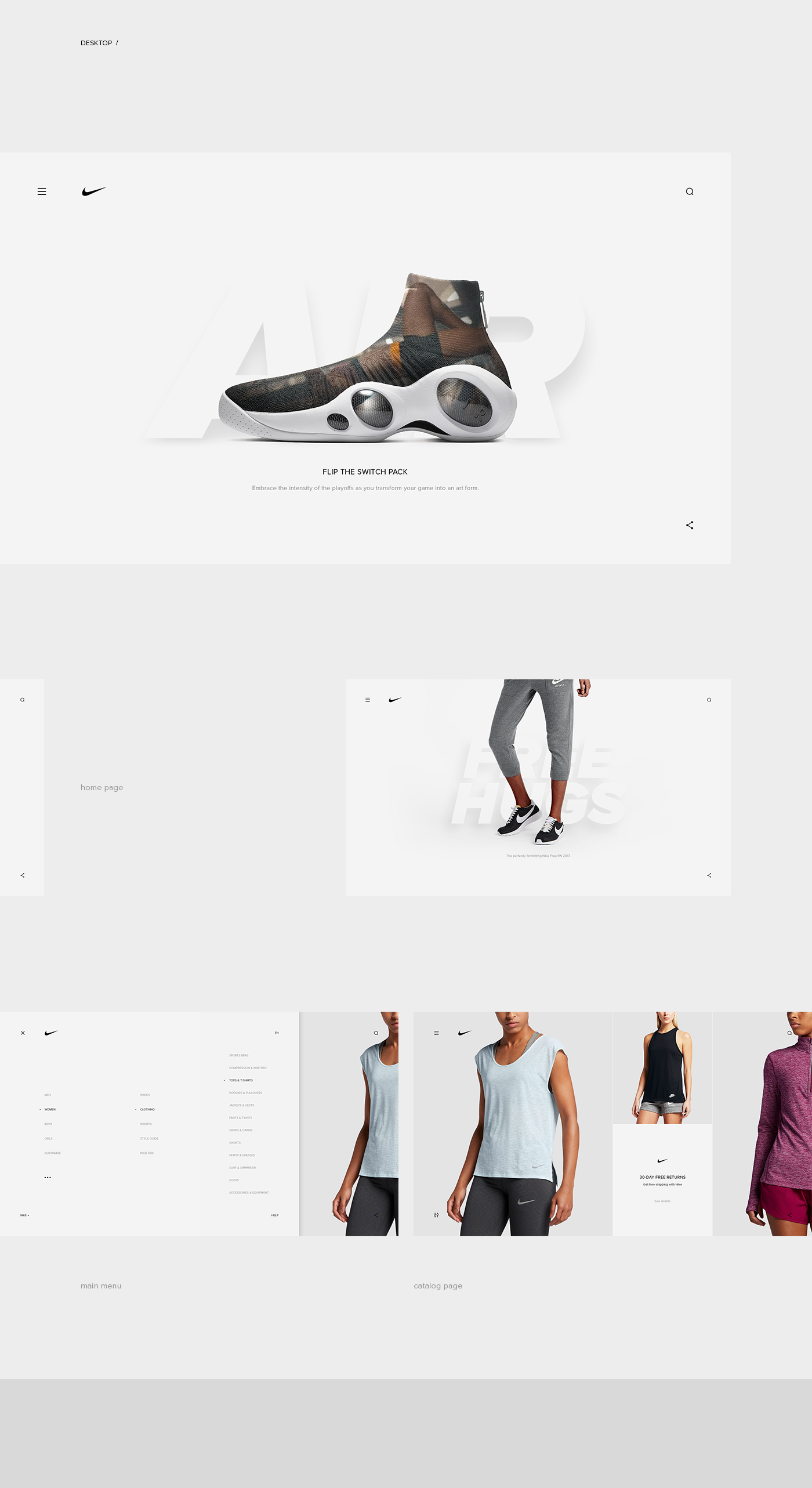 Minimalist design for nike desktop and mobile concept for Minimal art wikipedia