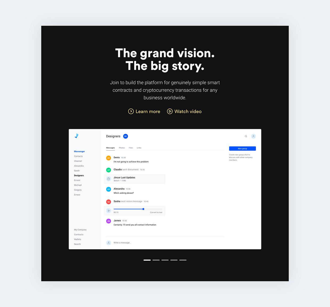 Web landing landing page Ico blockchain Website graphic Clean Design typography