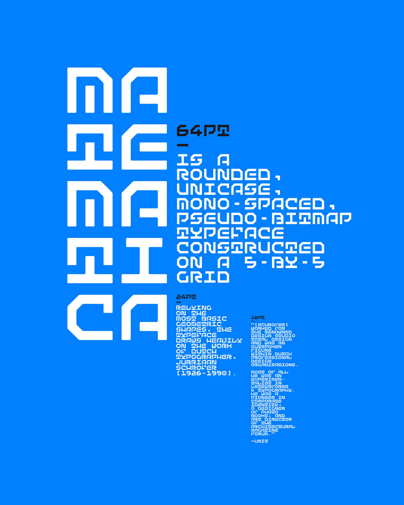 display typeface,mono-spaced,unicase,rouded,bitmap,grid,geometry,mathematics,matemática,font,Typeface,Free font