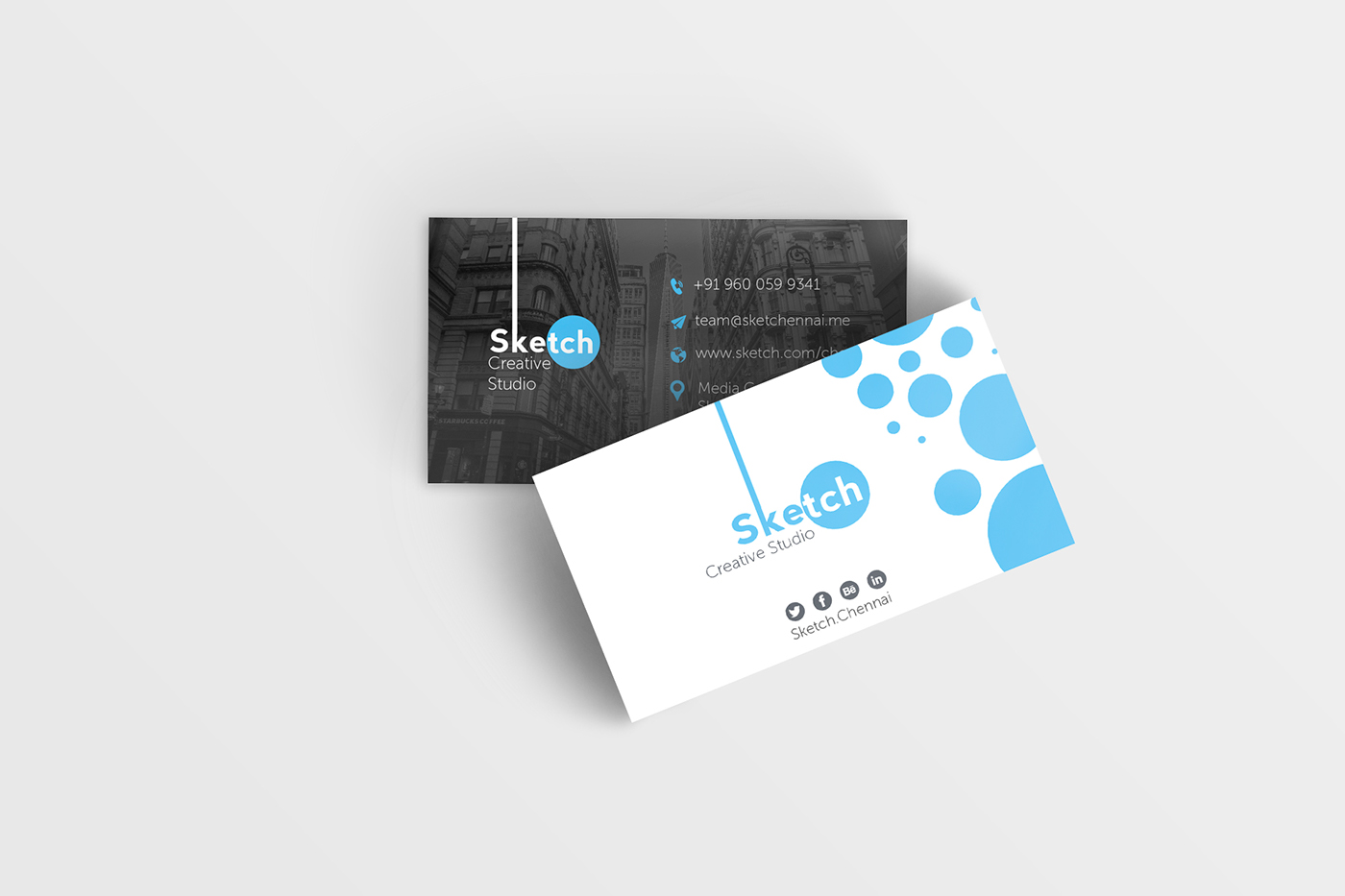 Business card for ad agency on behance colourmoves