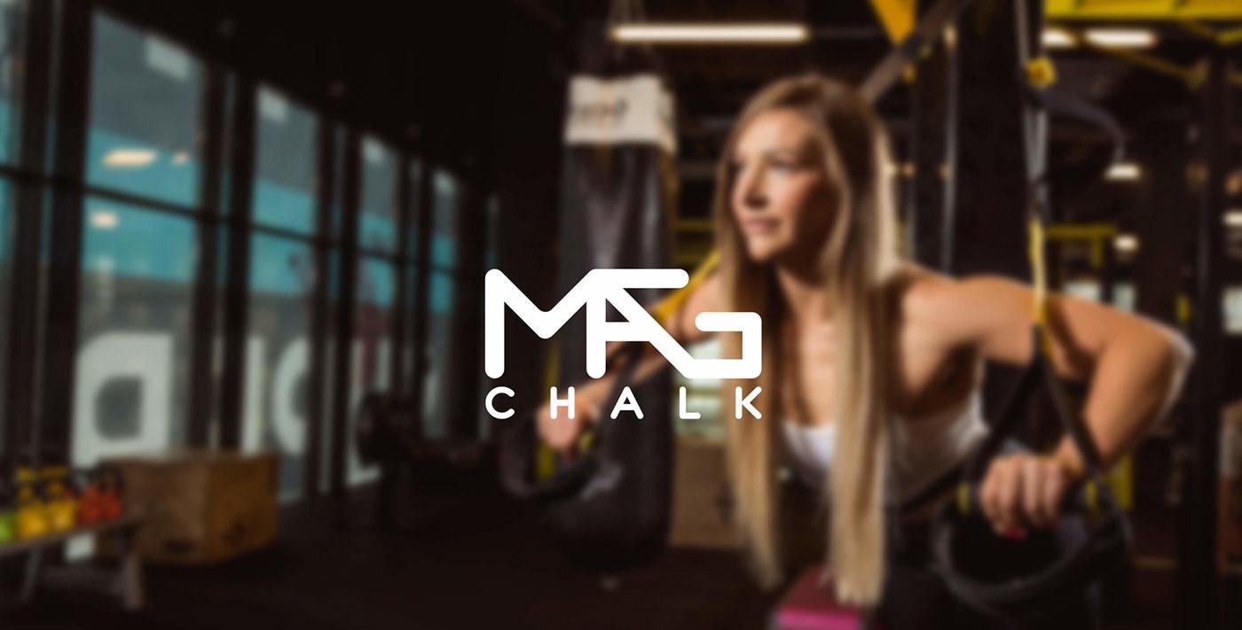 fitness sport BodyBuilding chalk labels Packaging