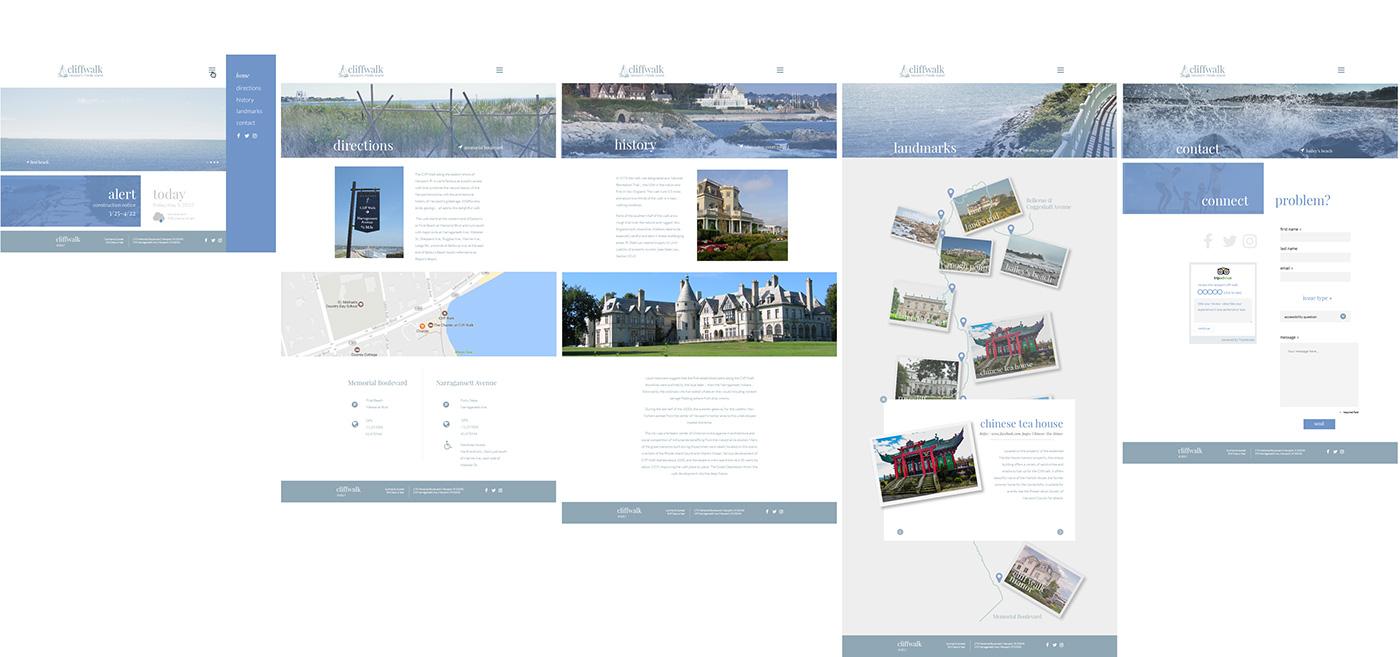 Website Cliff Walk newport newport ri Rhode Island Nature Ocean tourist adaptive website