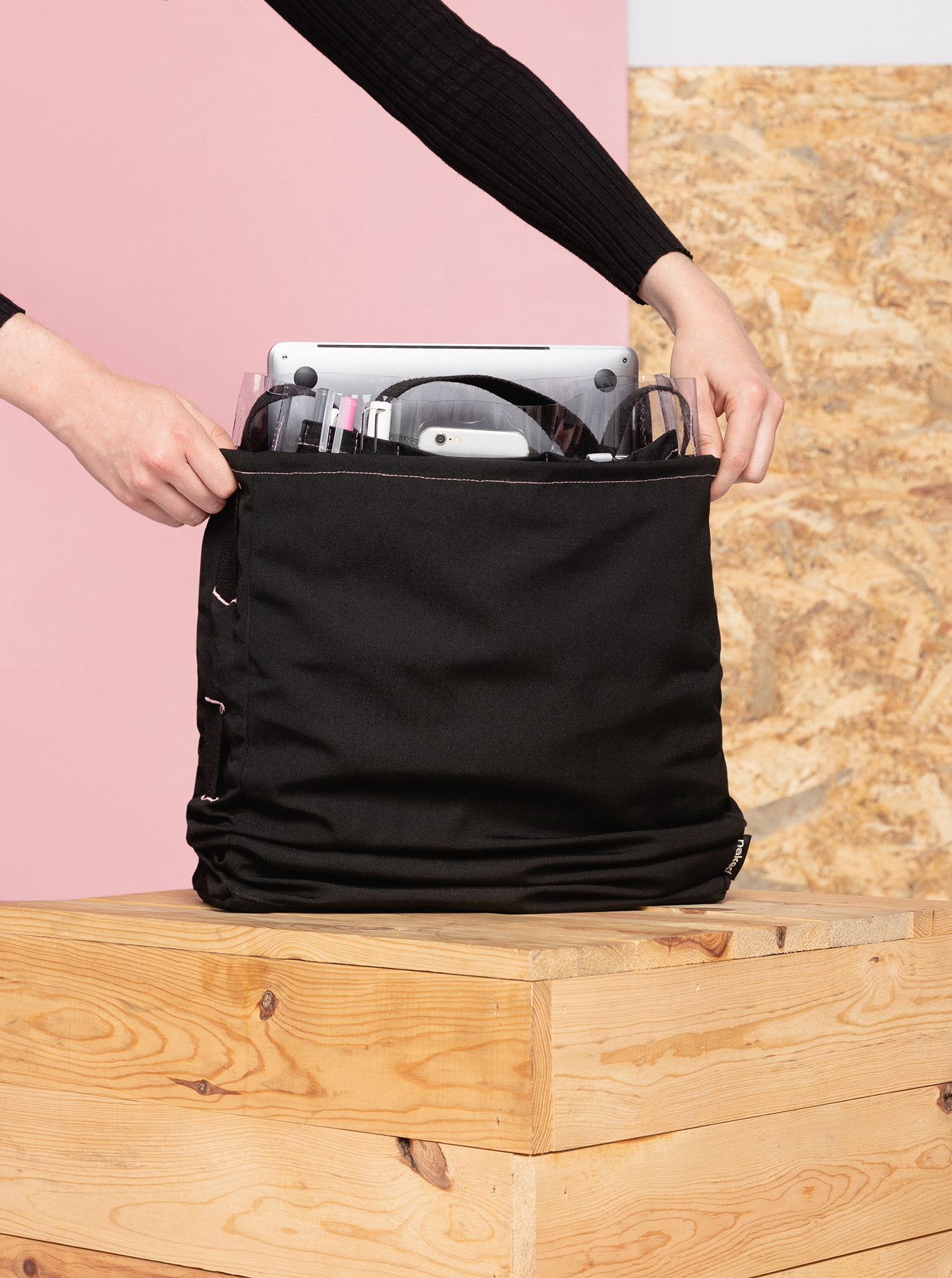 naked fabric furniture inventives coworking bag backpack design product milan