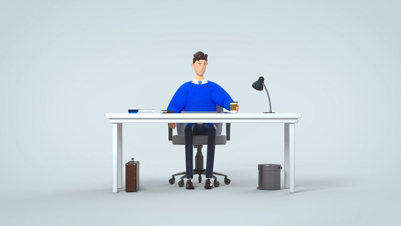 3D 3dcharacter animation  artwork branding  Character design motion toss VDAS