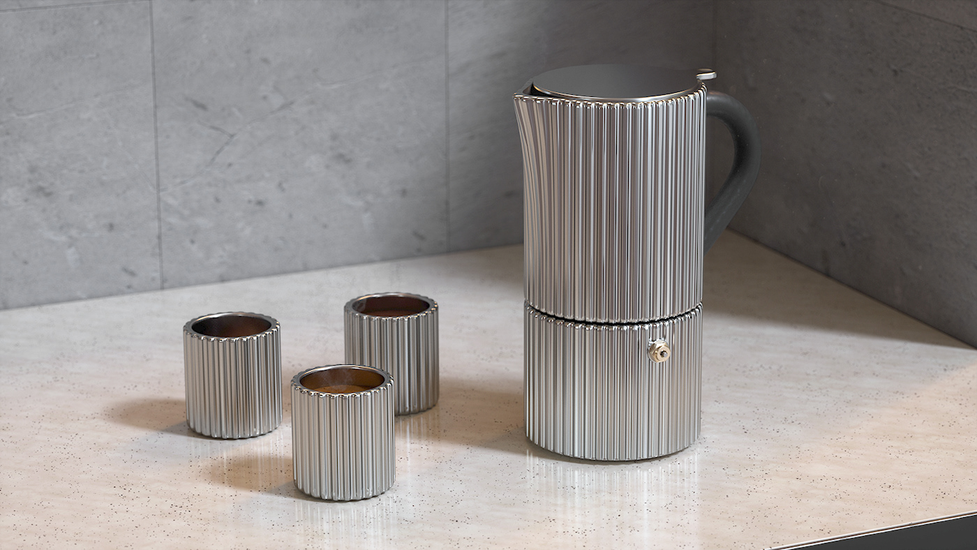Coffee metal minimal