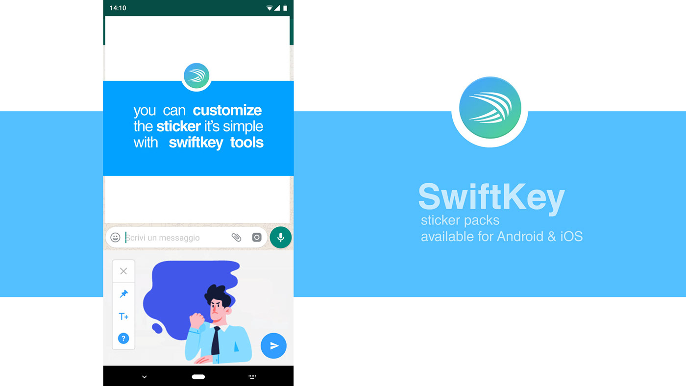 SwiftKey StickerPack on Behance