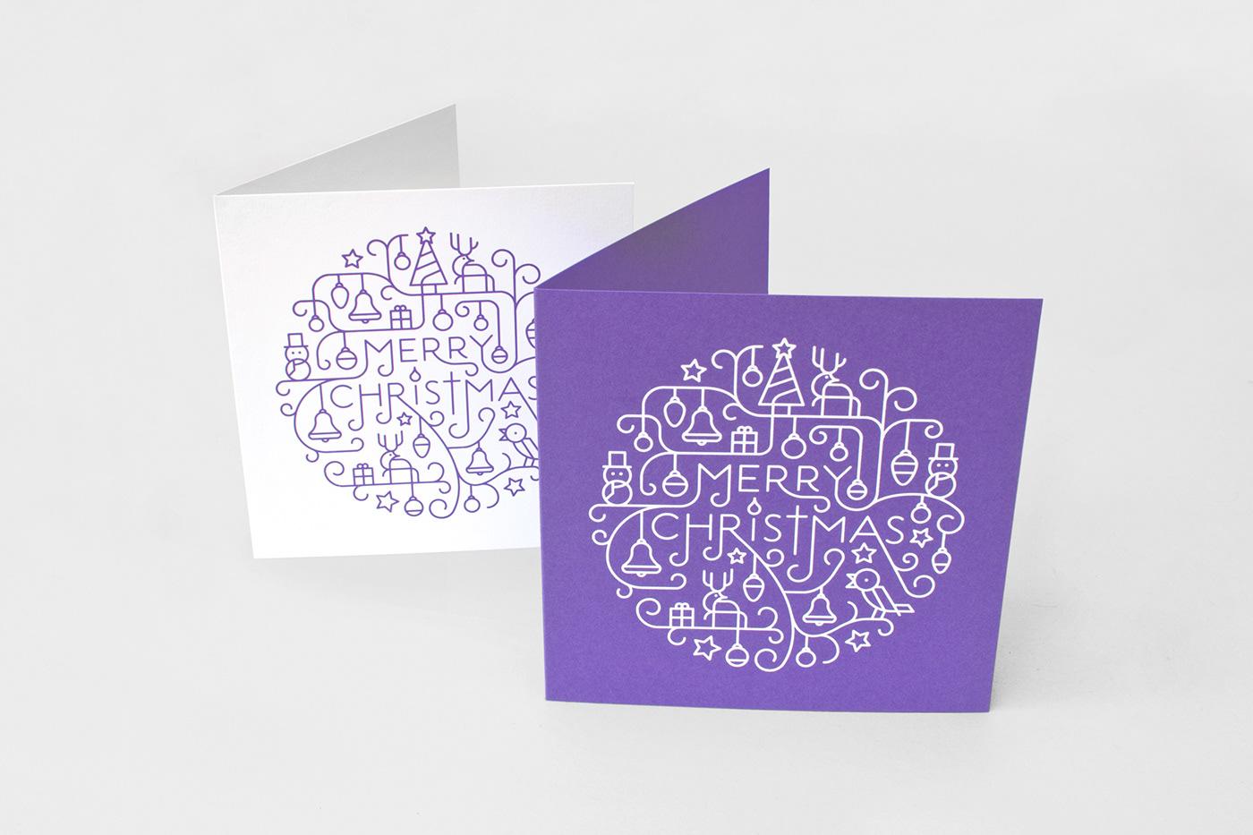 有獨特感的34套聖誕卡片設計欣賞