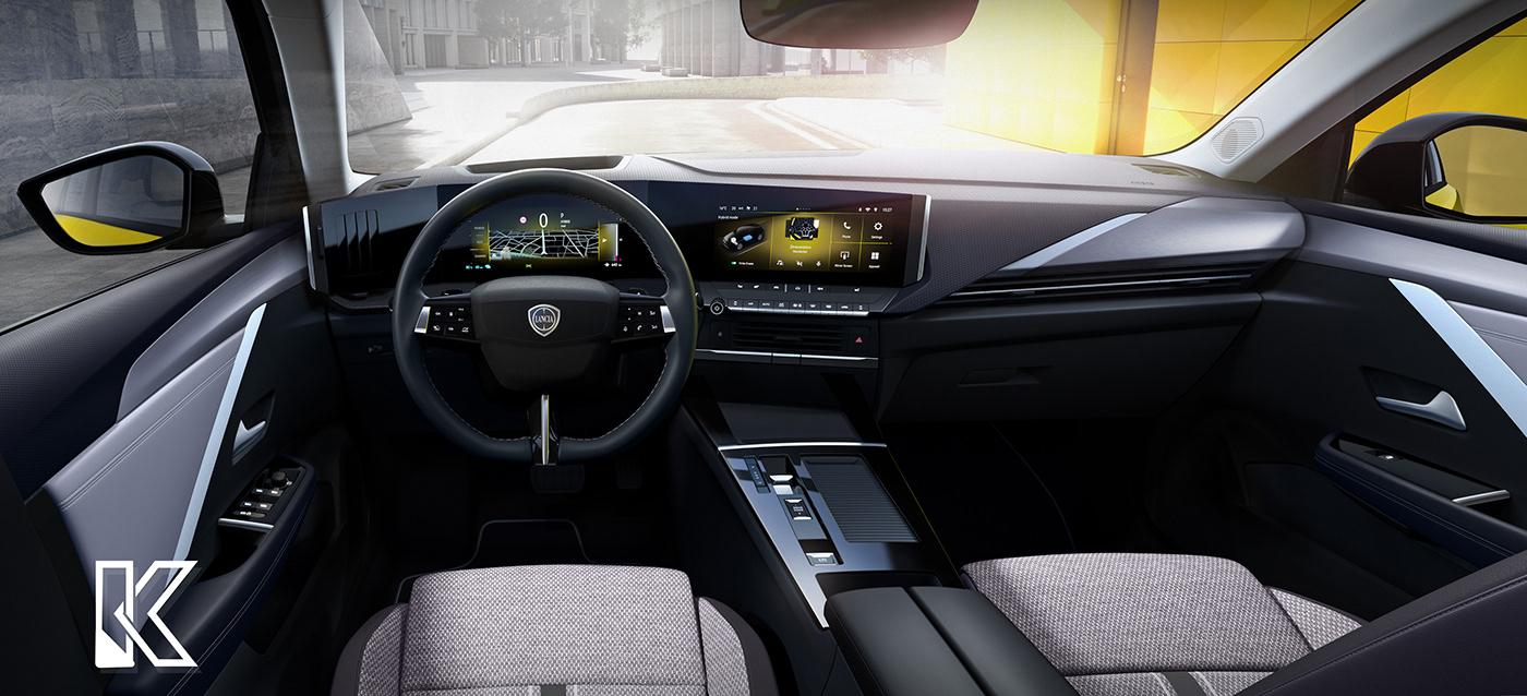 Automotive design concept car rendering
