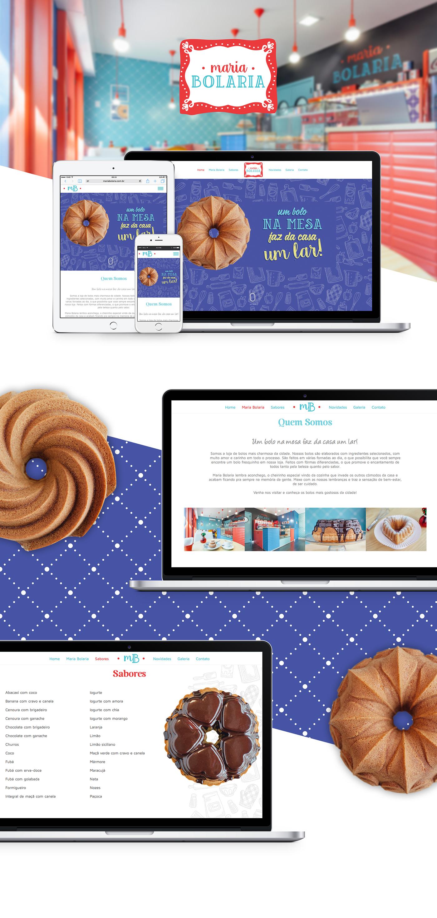 bolo cake Website cute sweet interaction parallax