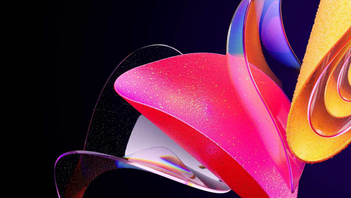 3D abstract art artwork CGI Render windows
