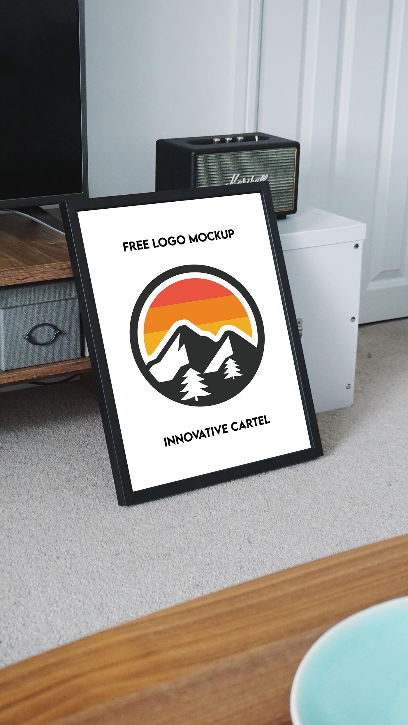 asset frame free Free logo mockup download graphic graphic design  logo Mockup Mockup photoshop 3d mockup