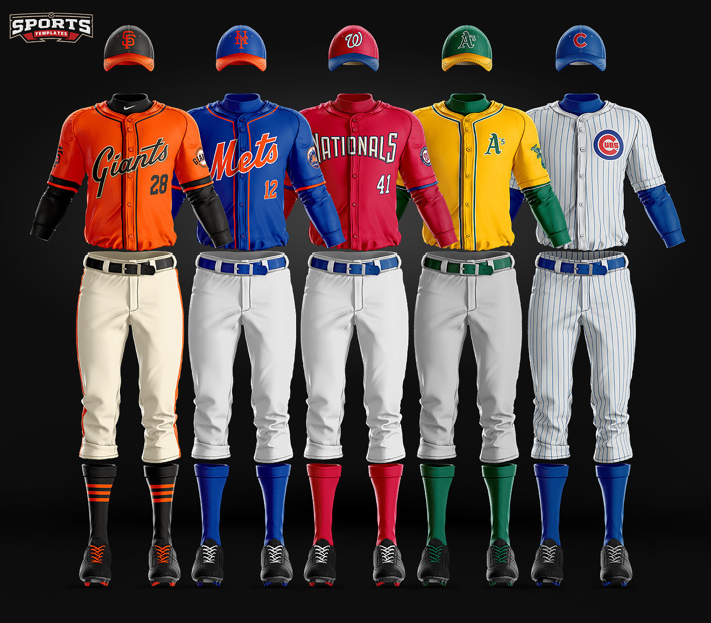 The most realistic baseball uniform photoshop template for Softball uniform design templates