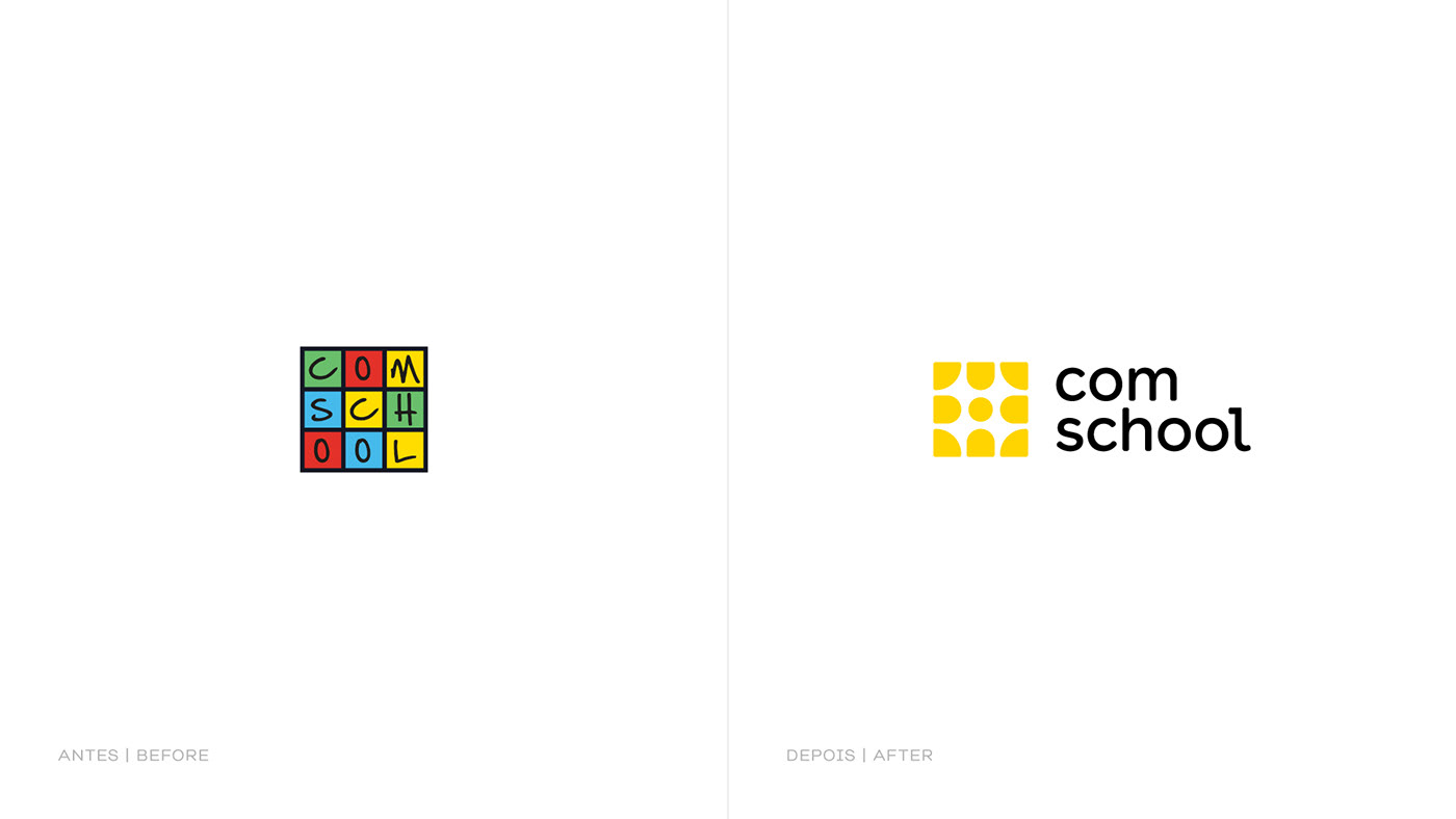 brand colorful digital friendly geometric school student symbol Technology yellow