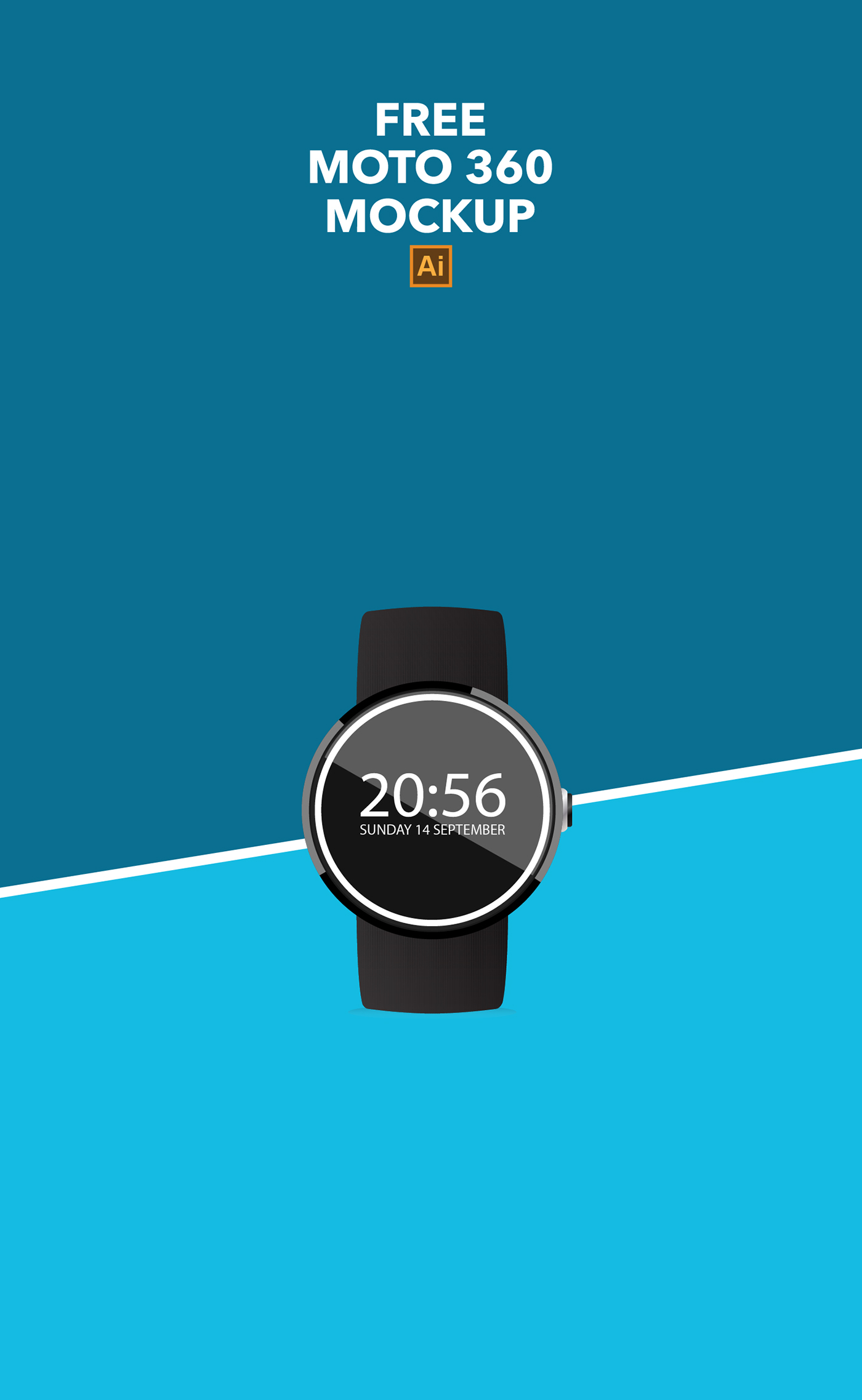 moto360 Mockup android wear watch apple vector free user Interface circle iwatch realistic ios Samsung