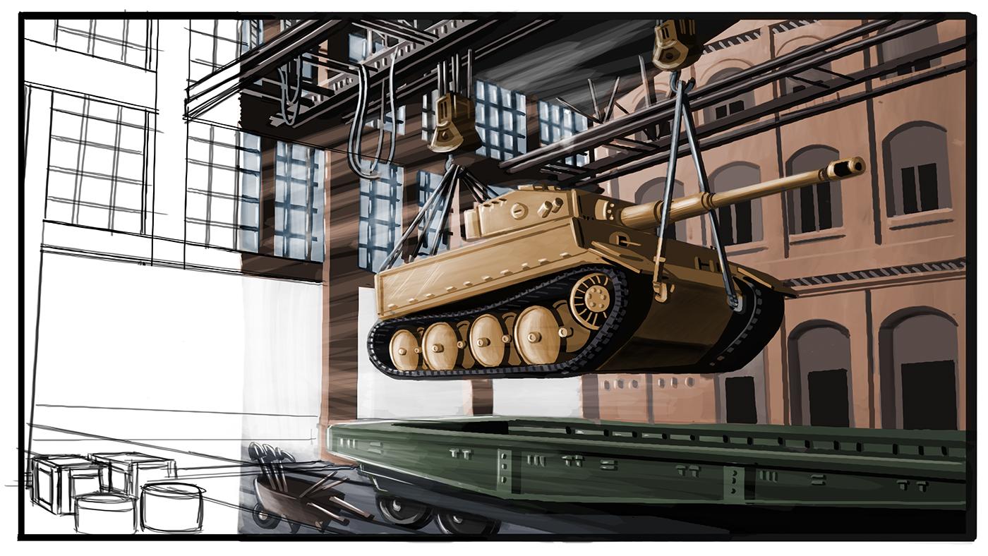 Henschel Tiger Tank Factory on Behance