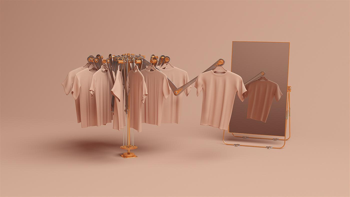 endless loop gif 3D pastel daily smooth colours argentina pantone molistudio
