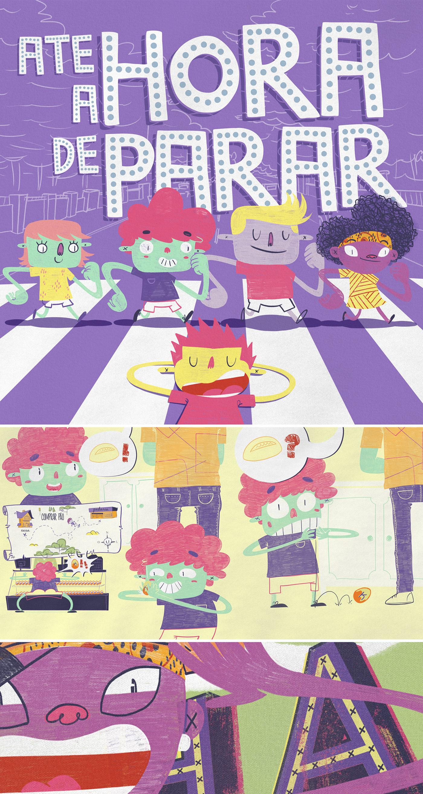 book music Child book Livro infantil colored pencil octane PANTONE 18-3838 Ultra violet