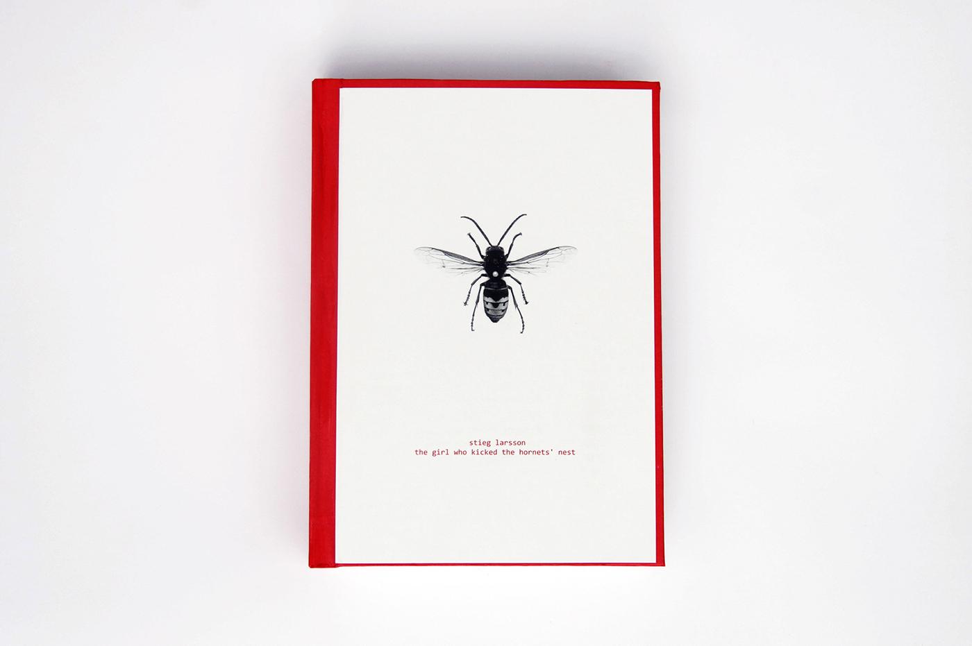 book cover book cover millenium criminal Layout Stieg Larsson dragon tattoo salander coding hackers hacking hornet minimal minimalist