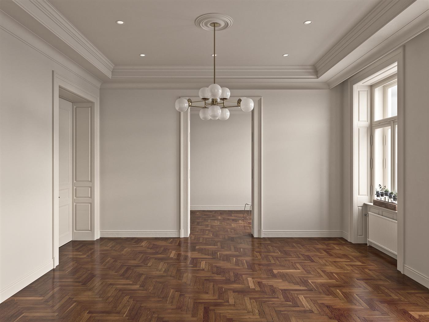 ceiling herringbone studio flat