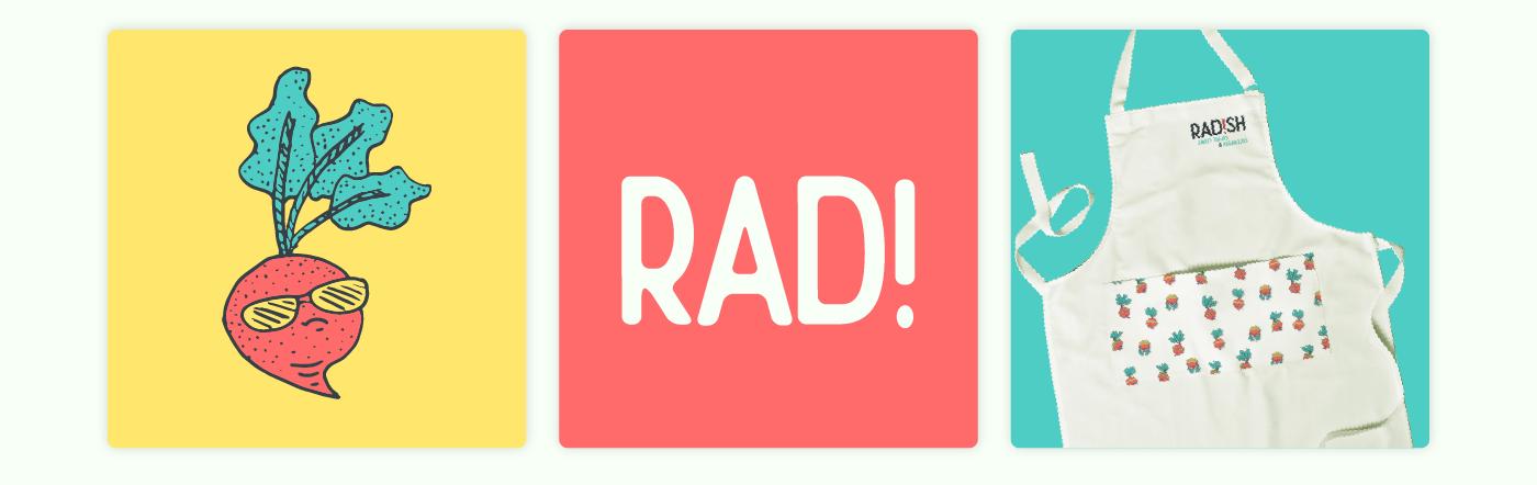 radish RCAD restaurant vegan Health dining Vegetarian funny rad!sh