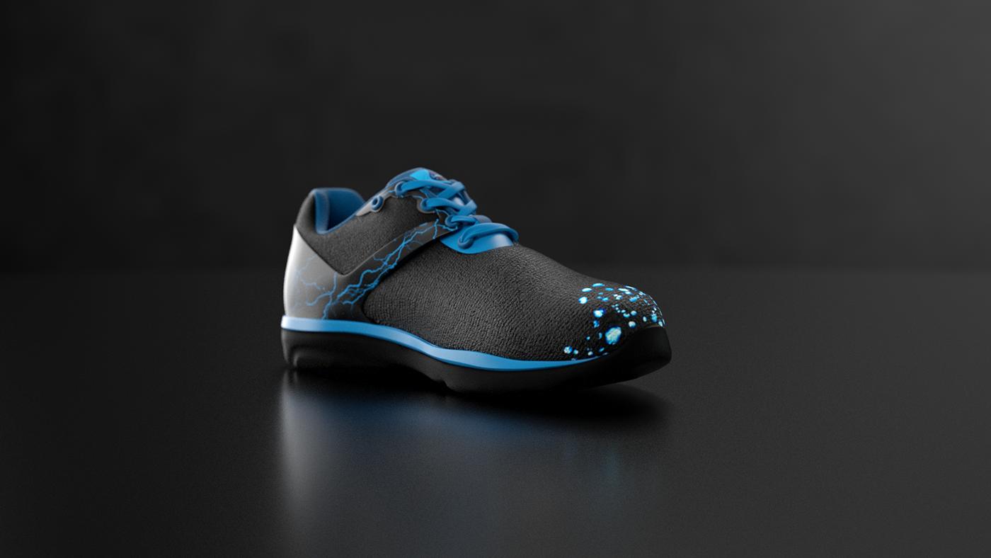 Shoe Design & visualization 3d design Octane Render cinema 4d c4d After effect creative direction art direction