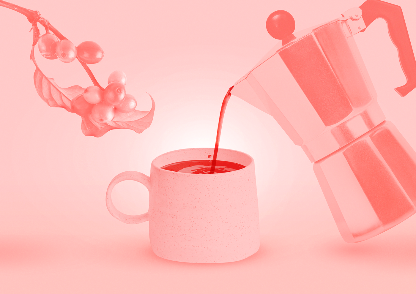 postcard,print,design,Coffee,art,pink