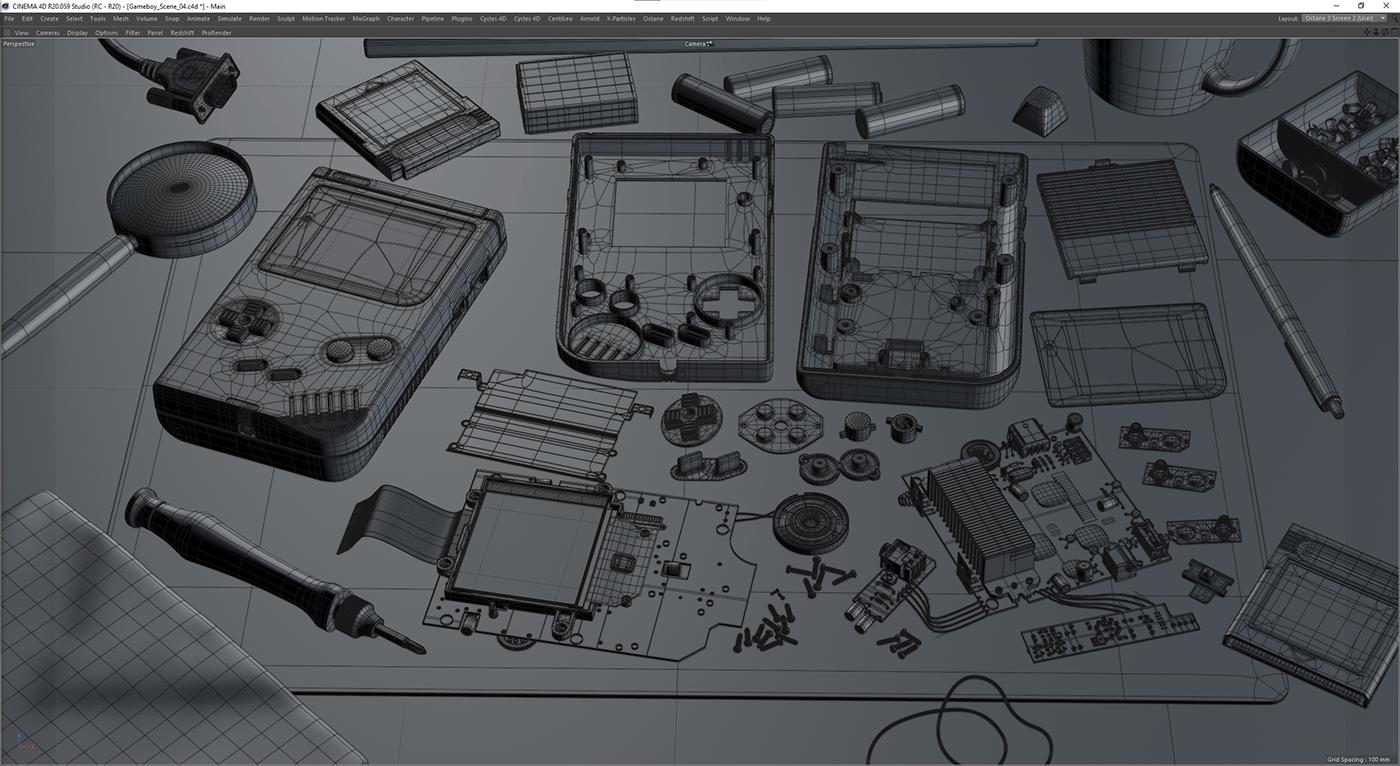 3D CGI gameboy classic Gameboy Nintendo Gaming passionproject photorelism Realism Retro retrogaming