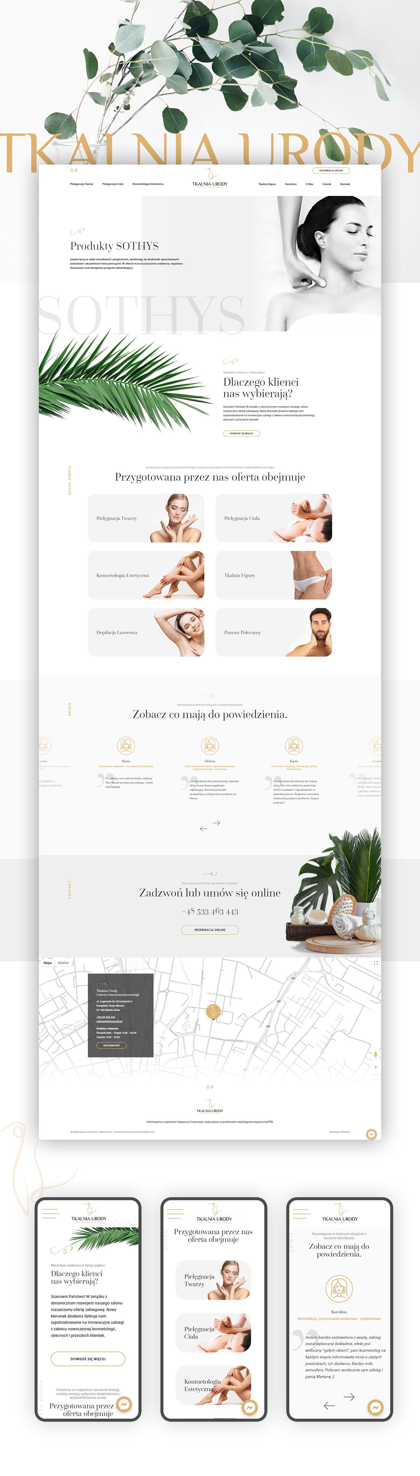 Beauty salon, Day spa web design.