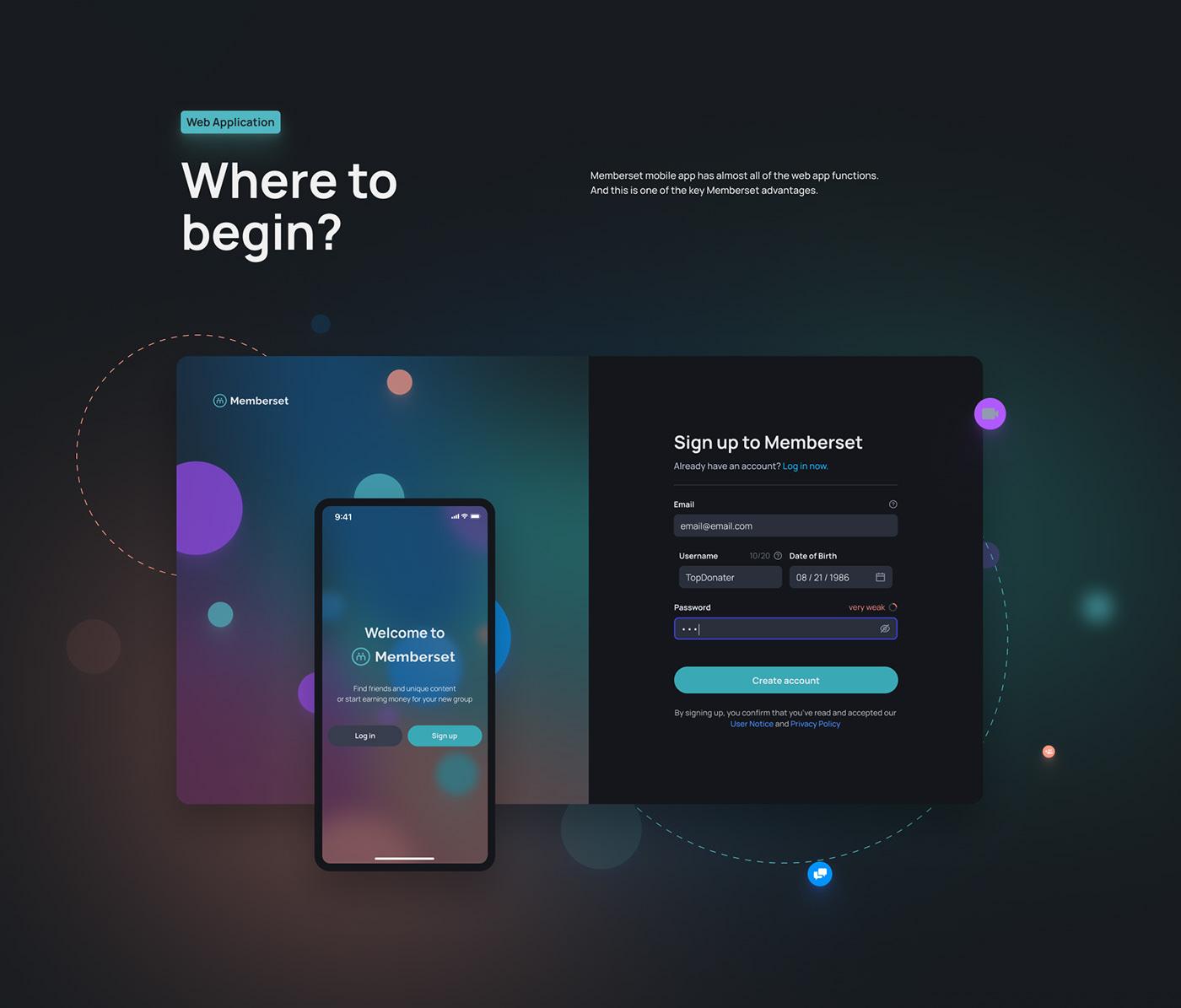 landing page Mobile app networking UI ui design UI/UX user interface ux Web Design  Website Design