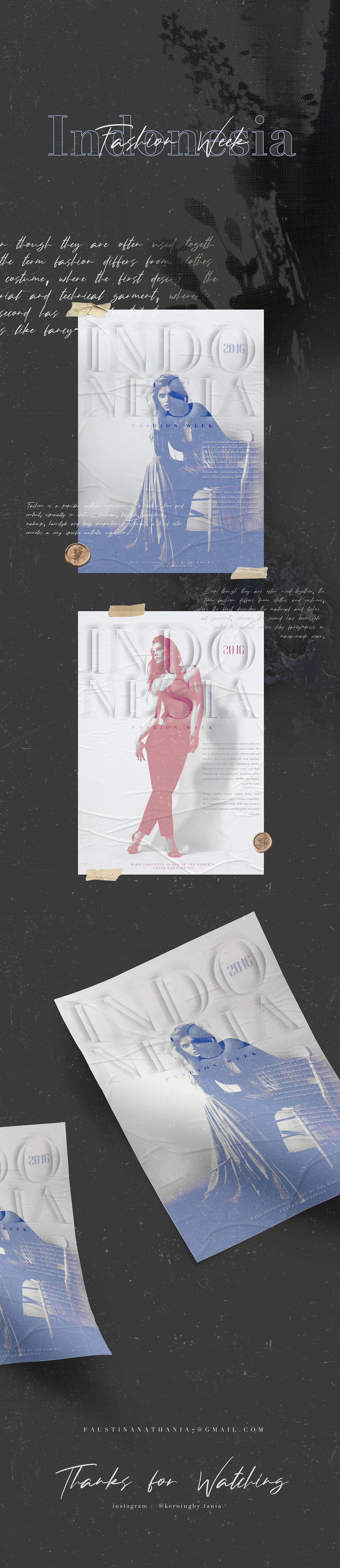 adobe pantone Fashion  poster Illustrator photoshop indonesia branding  coral purple