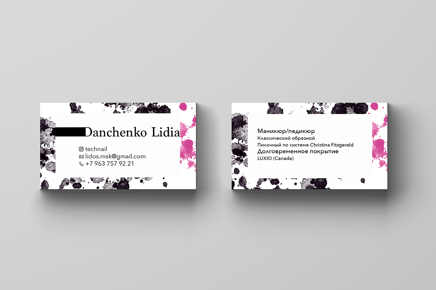 Business card for nail master on behance business card for nail master lettering and typography magicingreecefo Choice Image