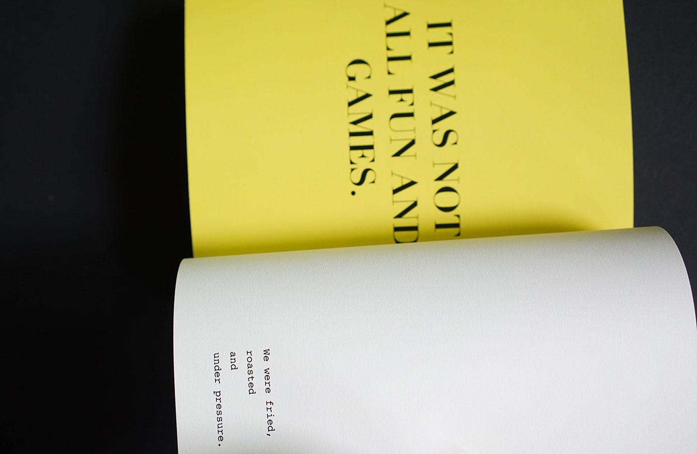 typography   publication Zine  book