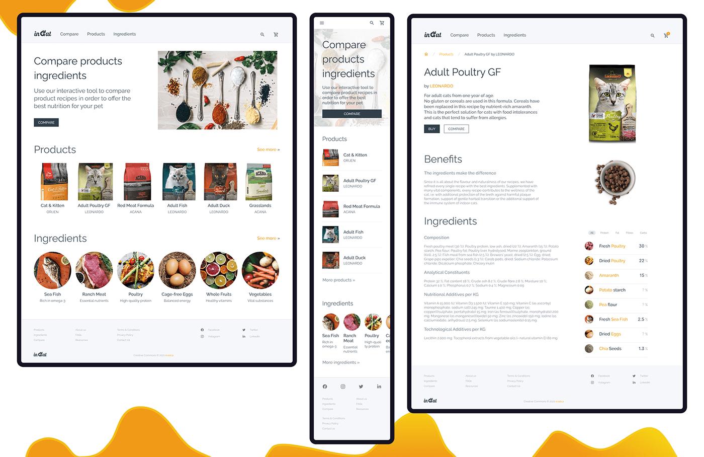 CaseStudy cat food ingredients Mobile app responsive website User research Interaction design  visual design