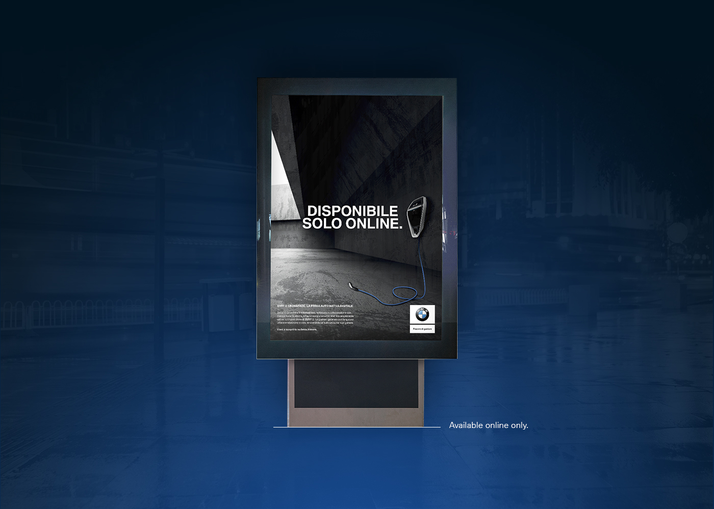 BMW I3 print online store digital atl banner launch crossfade limited edition