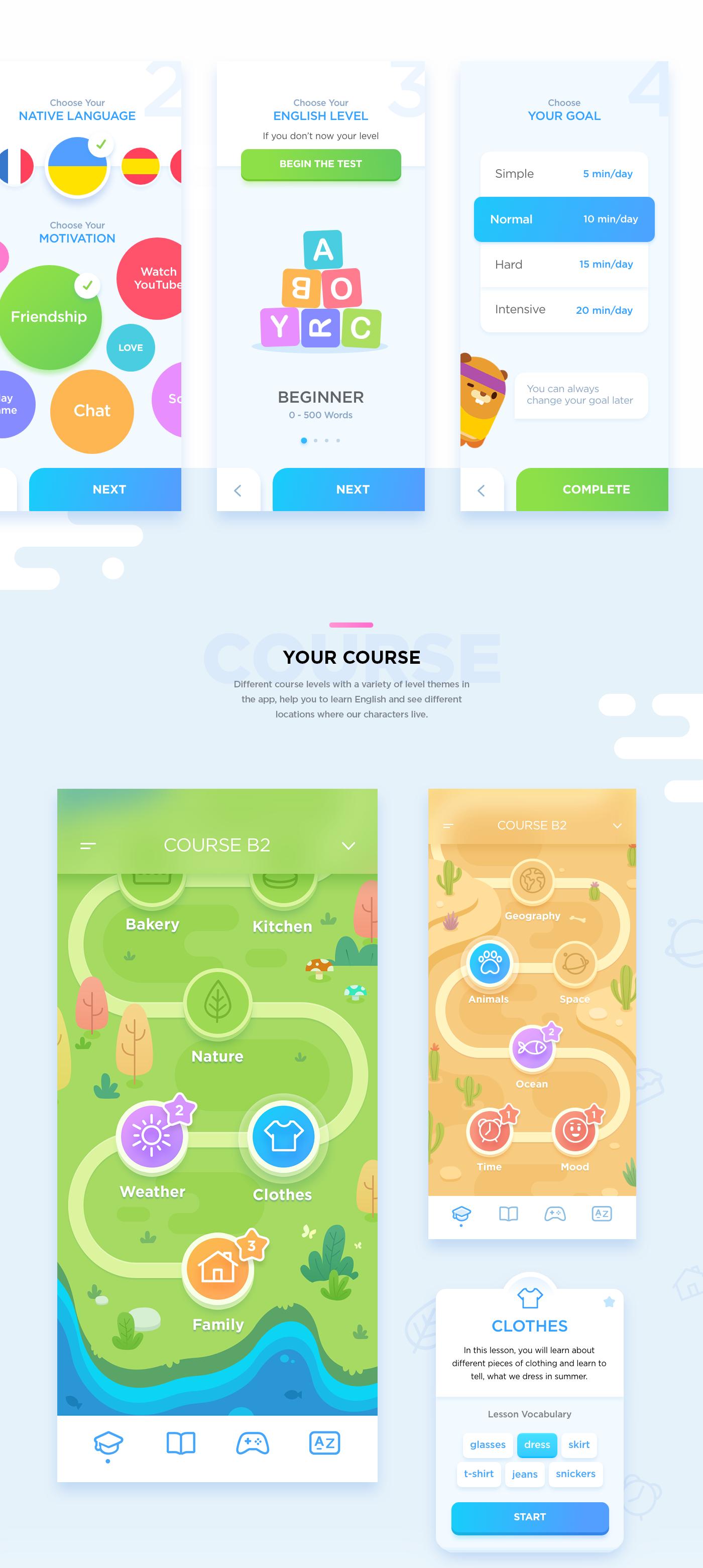 app Education UI animation  ILLUSTRATION  kids logo mobile characters game
