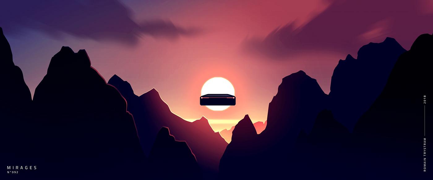 Monday Sunrise Blogging 100906 >> Mirages 2 100 Illustrations On Behance