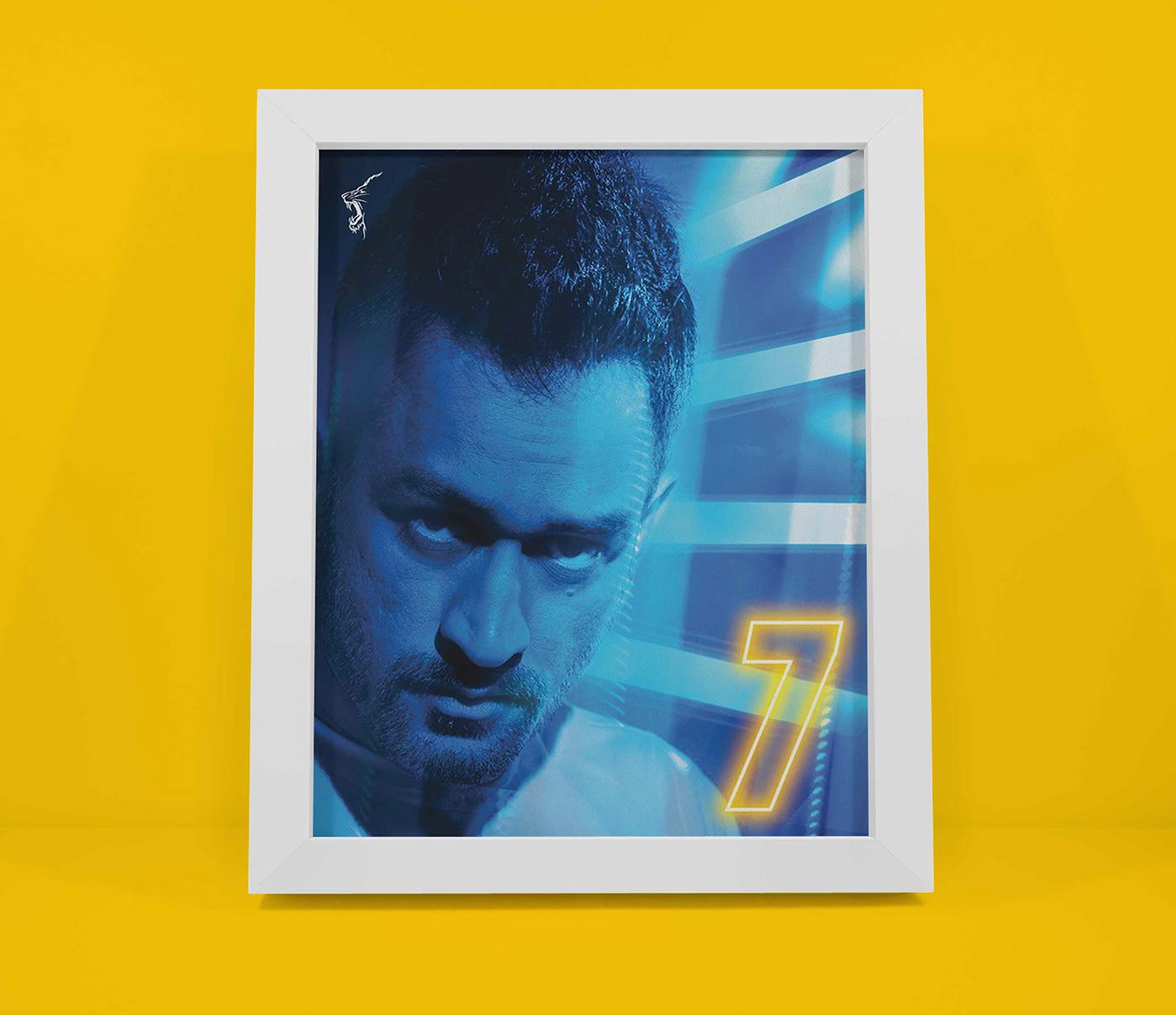 chennai super kings Cricket csk Dhoni raina sports Sports Design