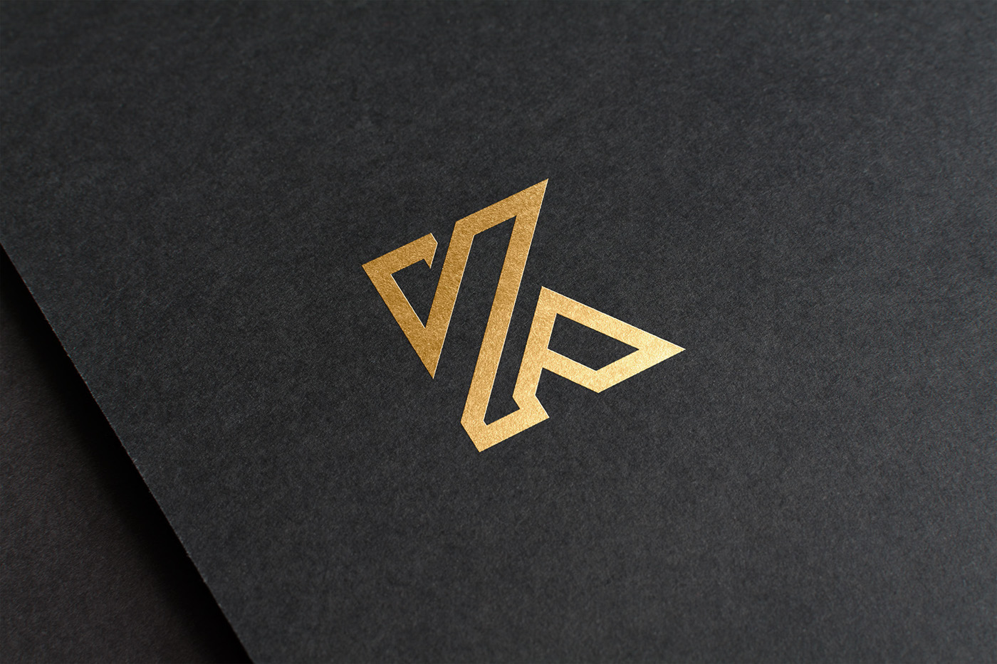 logo gold black corporate ID branding  letter wood steel