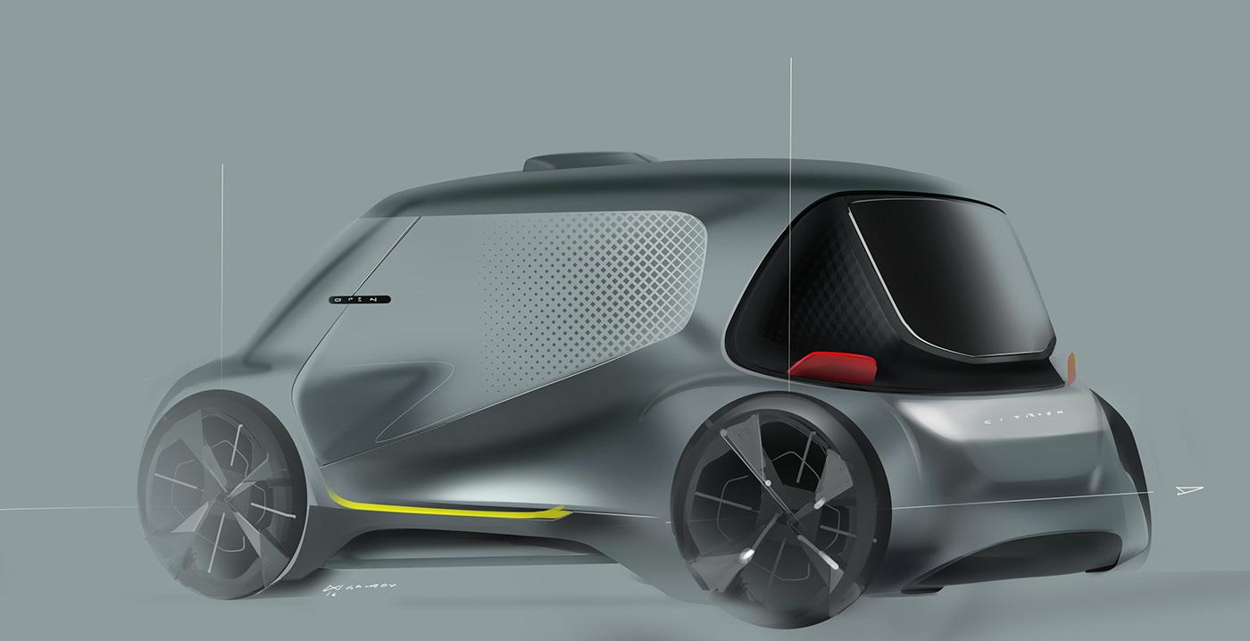 有創意感的20套概念車草圖設計欣賞