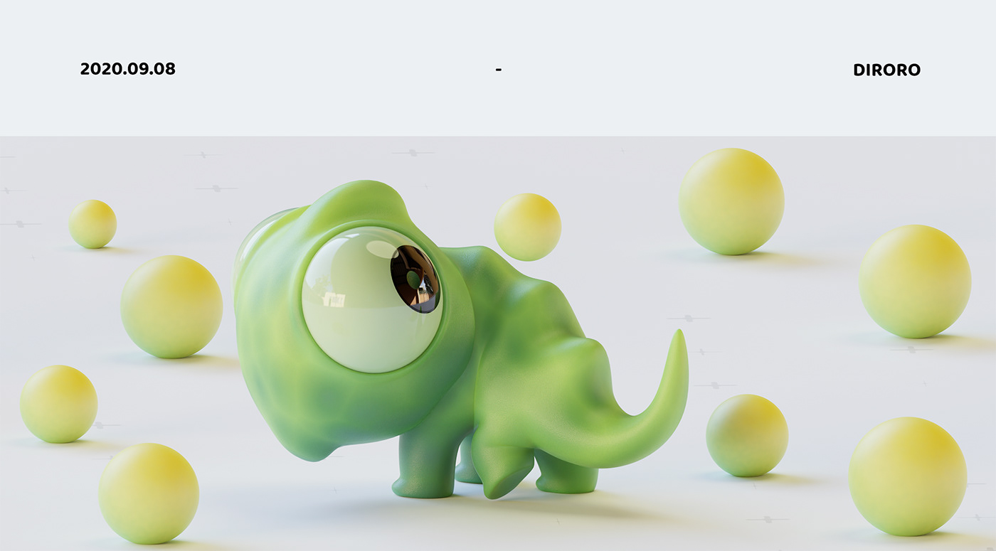 blender c4d 三维设计 产品设计 玩具设计