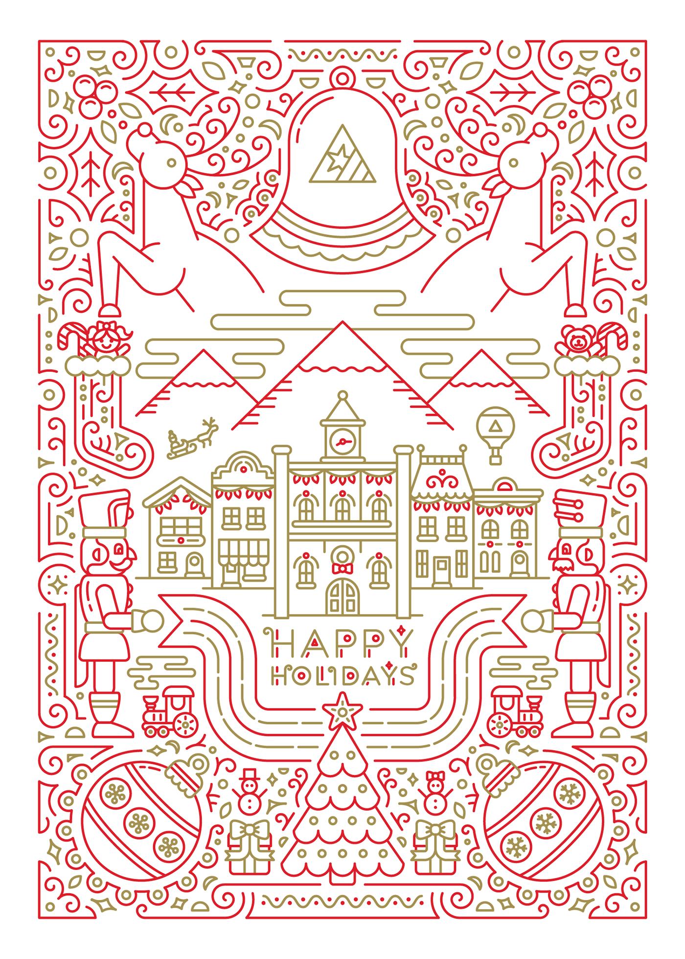 精緻的34款聖誕卡片設計欣賞