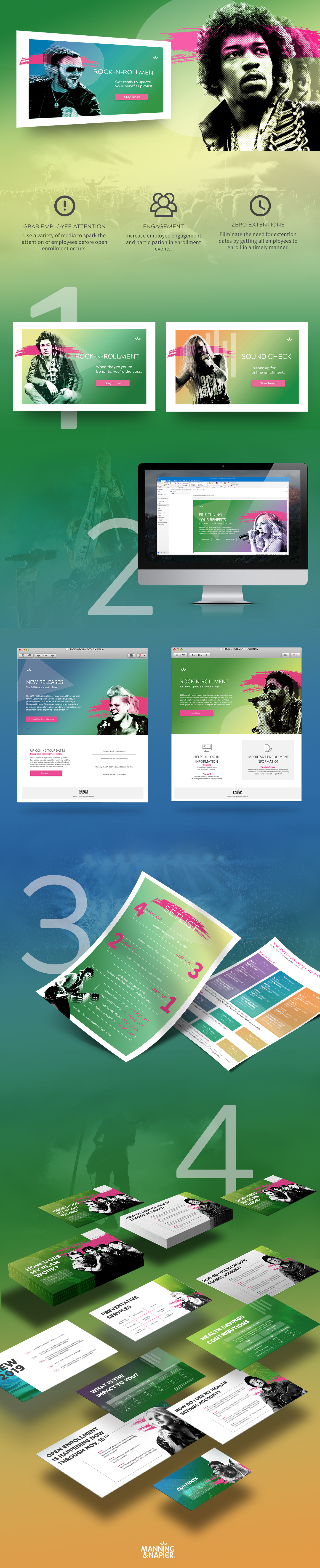re-brand campaign in-house Enrollment rock Rock-n-Roll Human Resources