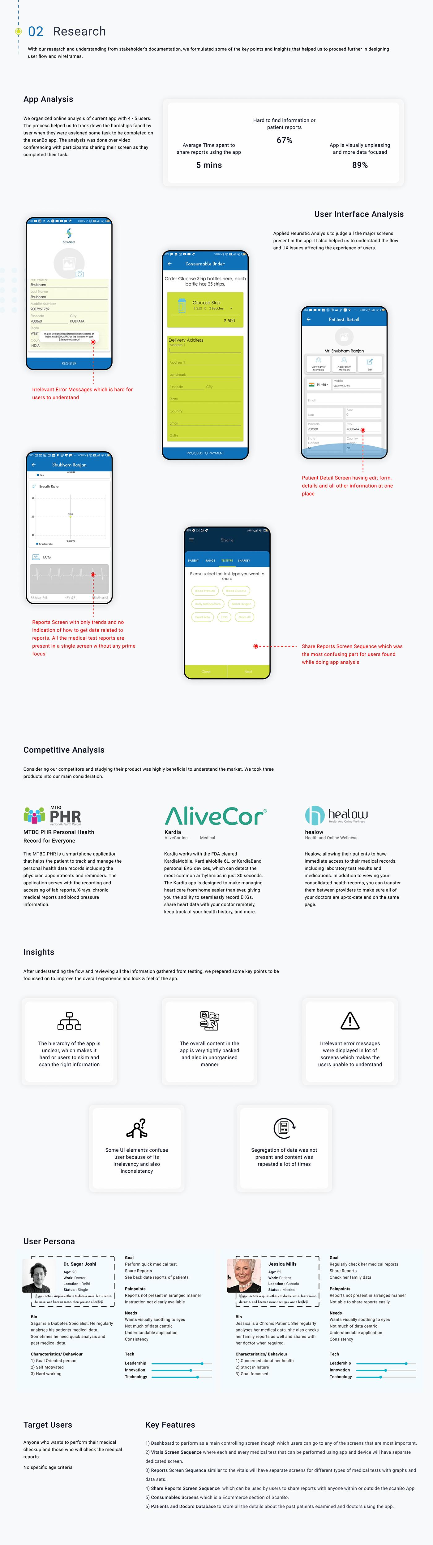 app design Case Study design Health healthcare Mobile app UI ux