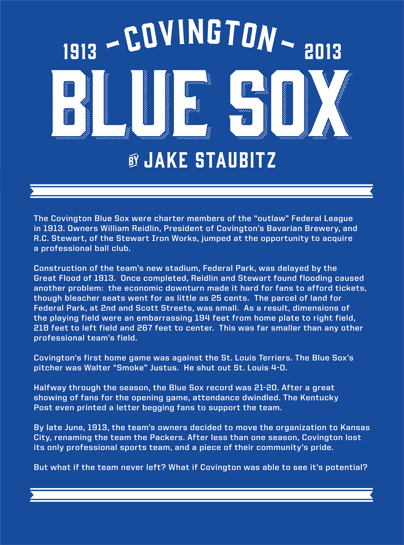 The covington blue sox on behance for The covington