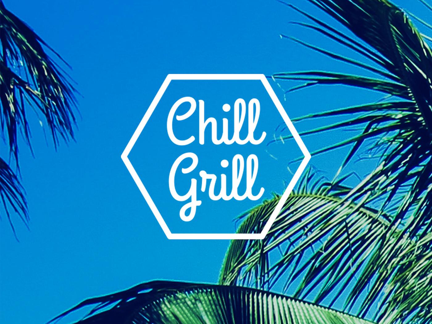 chill grill logo prints on behance. Black Bedroom Furniture Sets. Home Design Ideas