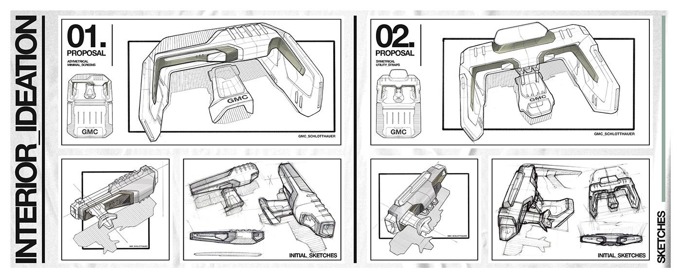 automotive   car design concept car gmc off road photoshop product design  sketching Transportation Design Vehicle Design